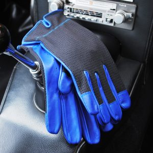 Les Leston driving gloves.