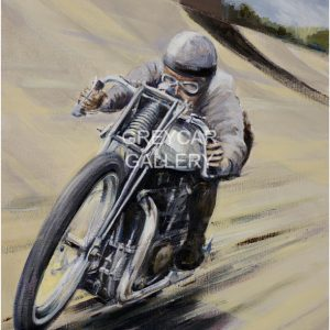 100 MILES IN THE HOUR WATERMARKED(Bill Lacey, Brooklands 1928) - (30x40)