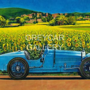 BUGATTI WITH SUNFLOWERS WATERMARKED