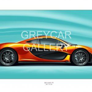 McLaren P1 profile print Greycar WATERMARKED (002)