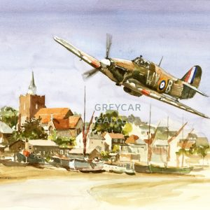 Hawker Hurricane over Maldon, Essex-ink