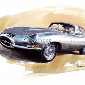 Jaguar E-type-ink